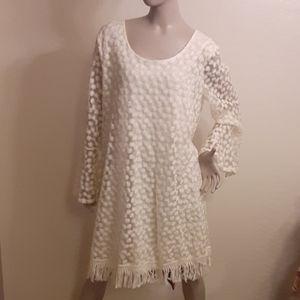 Indigo soul cream dress